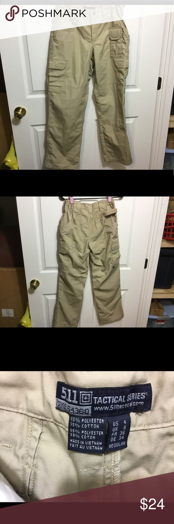 511 Tactical Pants Khaki color. Size 4 regular. Polyester/Cotton.style 64360. New/never worn 511 Tactical Series Pants