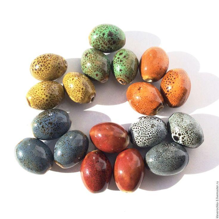Купить Керамические бусины 18 мм 6 цветов челнок для украшений - ceramic porcelain beads