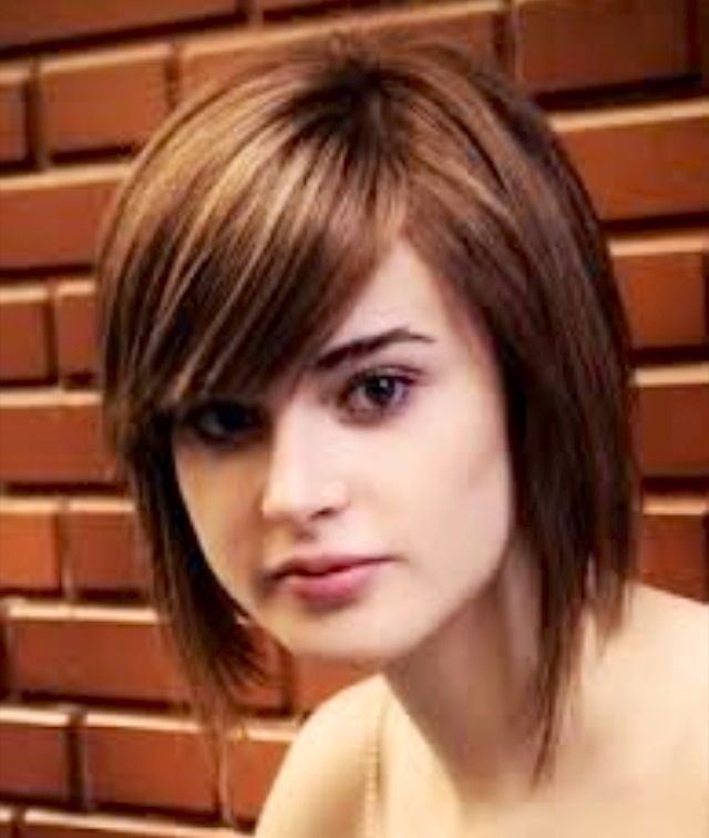short hair with bangs on a round face hairstyles