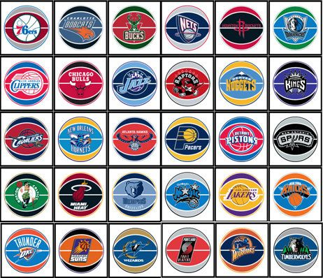 NBA+Basketball+Teams | NBA basketball team refrigerator magnets all 30 teams