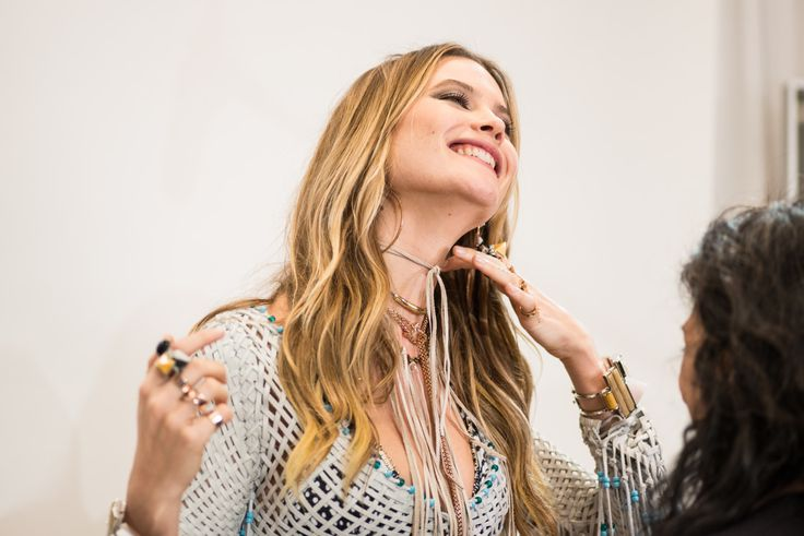 See exclusive photos from behind the scenes of the Victoria's Secret fashion show on wmag.com.
