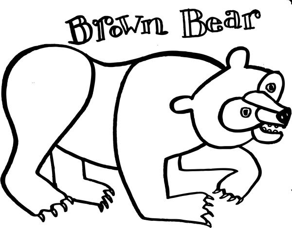 11 Best Brown Bear Images On Pinterest Coloring Books Colouring Brown Coloring Pages