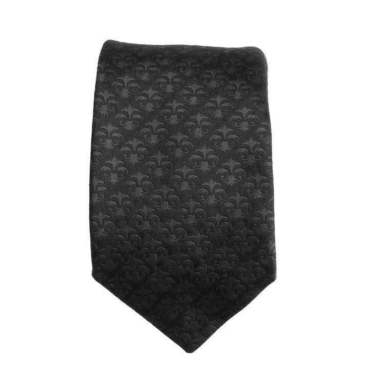 Denisonboston Floral Black Tie