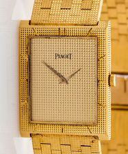 Vintage $30,000 Piaget 18k Yellow Gold Mens POLO Watch MINT
