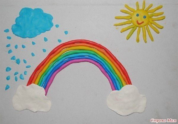 How can I draw a rainbow? We look! together with children