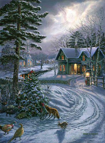 Snowy Christmas Sene                                                                                                                                                                                 More