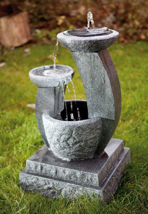 9 besten solarbrunnen solar springbrunnen bilder auf for Gartengestaltung springbrunnen