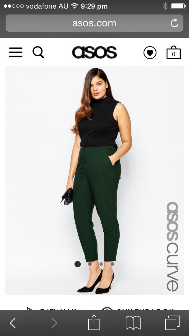 Forrest green cigarette pants