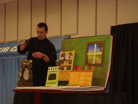 "Today Mr. Bob Parsons, from Walk About Puppets came to present ""Goldilocks and the Three Bears"" puppet show to our school!  He was outstandi..."