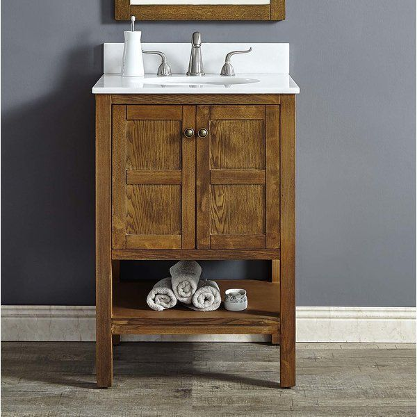Aula 24 Single Bathroom Vanity 24 Inch Bathroom Vanity