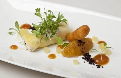 Dressed Crab Recipe, Pineapple Chutney, Beignets - Great British Chefs, Simon Haigh