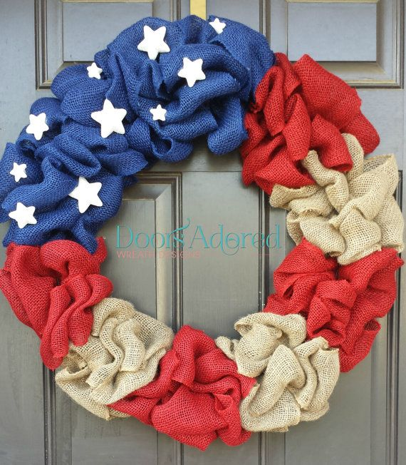 4th of july head wreath