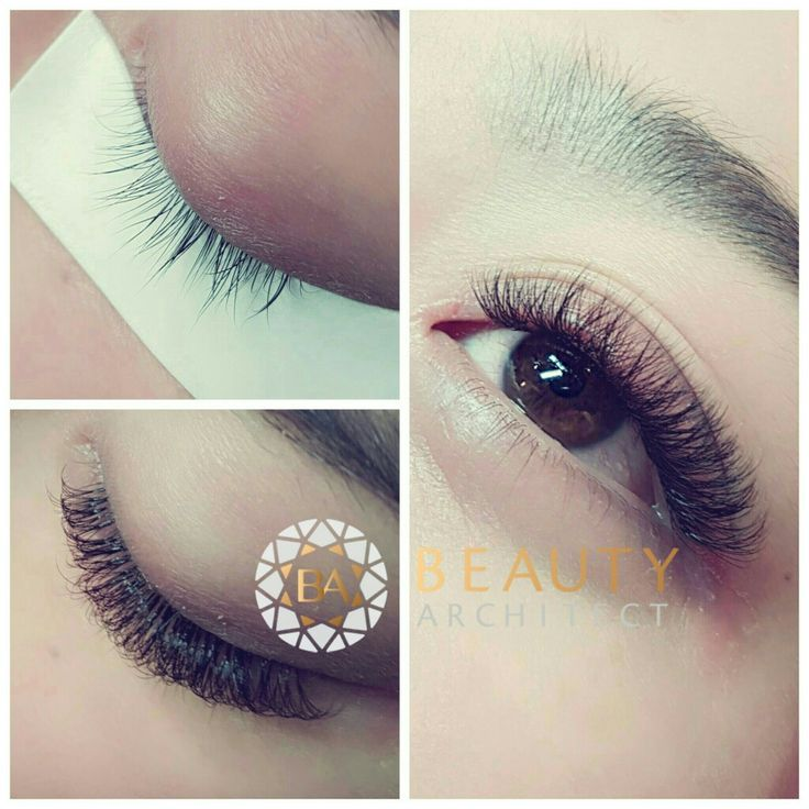 Fluff and fullness with 0.03 Volume eyelash extensions. ❤