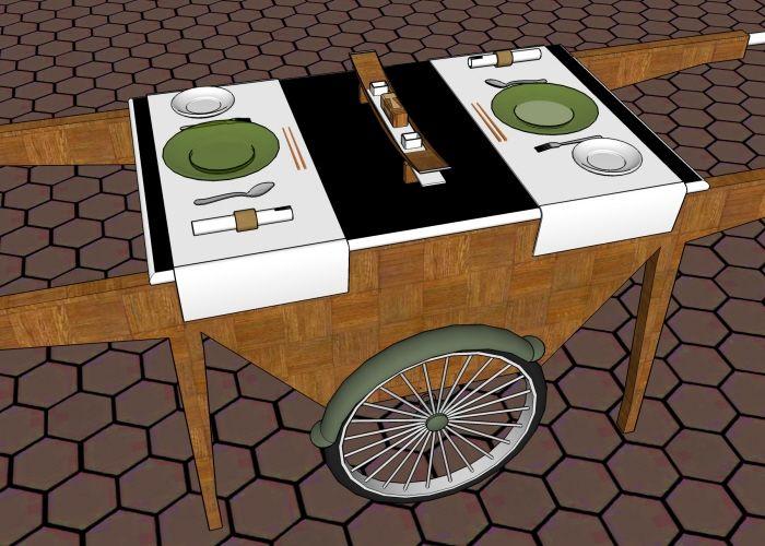 3D models for Asian restaurant by Mervyn De Nazareth at Coroflot.com