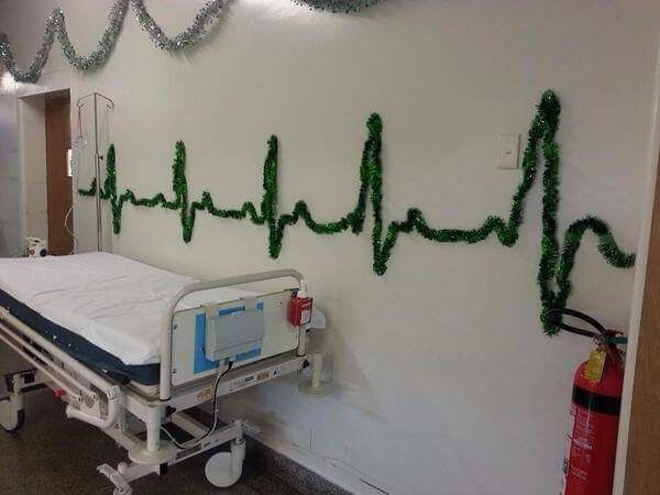 Christmas decorations at the hospital