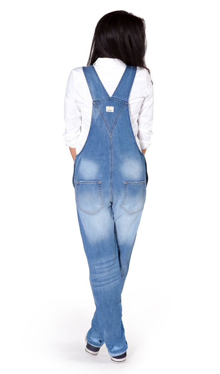 USKEES Carmela Women's Dungarees - Pale Wash from #dungareesonline #denim