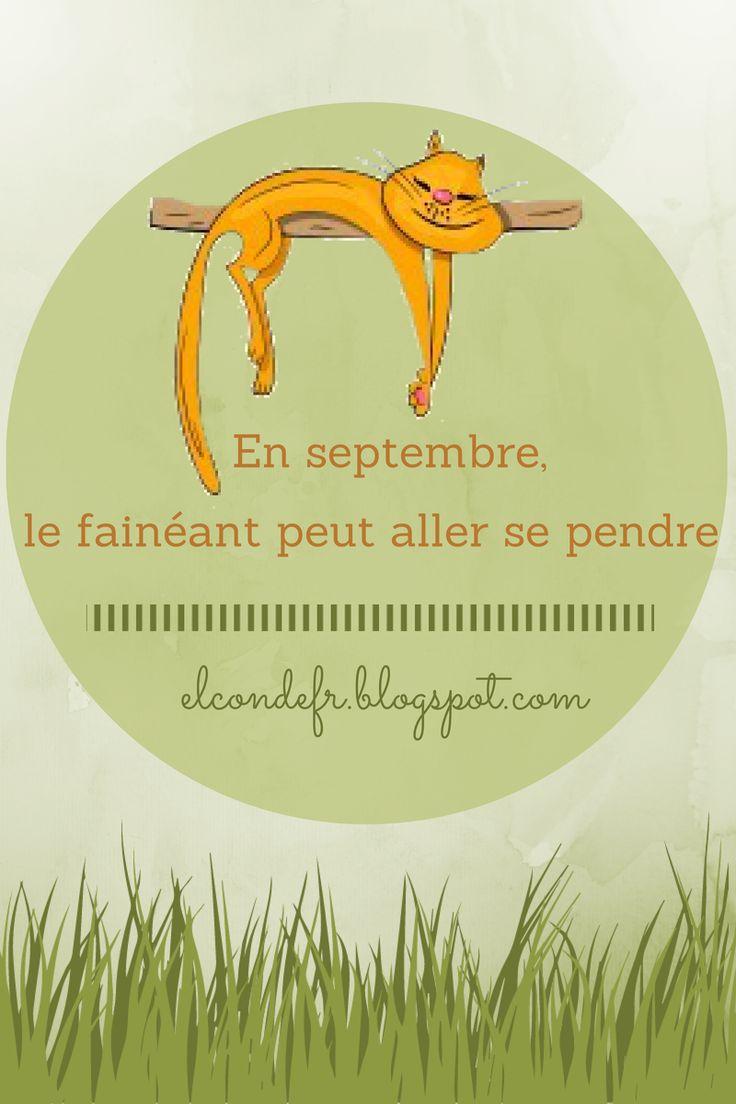 Le dicton du mois de septembre