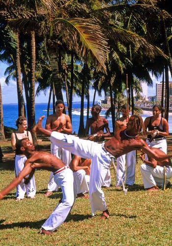 Capoeira in Brazil.