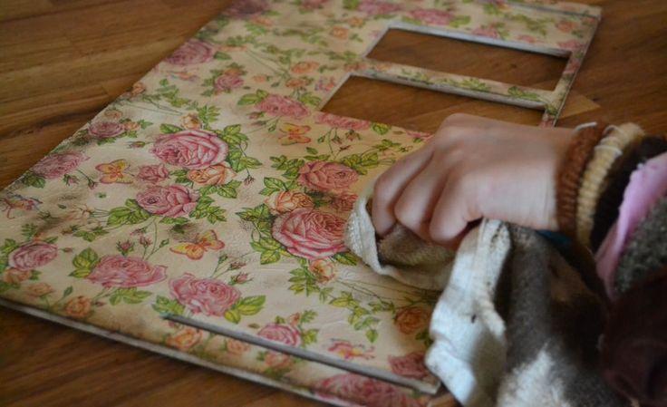 dekorowanie decoupage z dziećmi | decoupage with kids | dollhouse