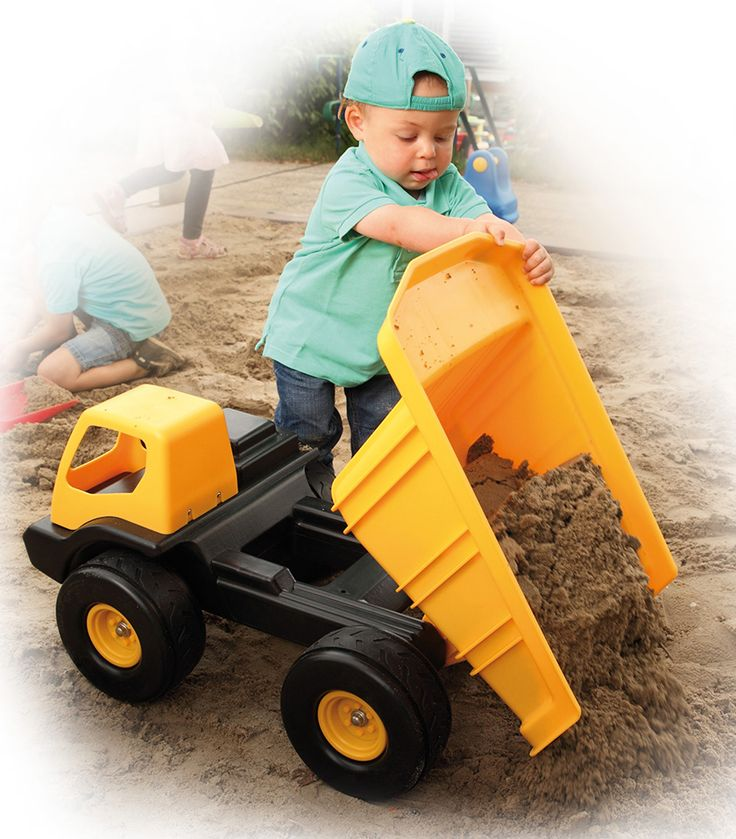 Giant Sandpit Dump Truck From Ludius from The Wooden Toybox