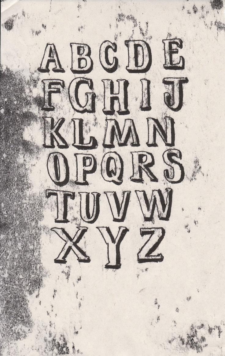 mono printed alphabet