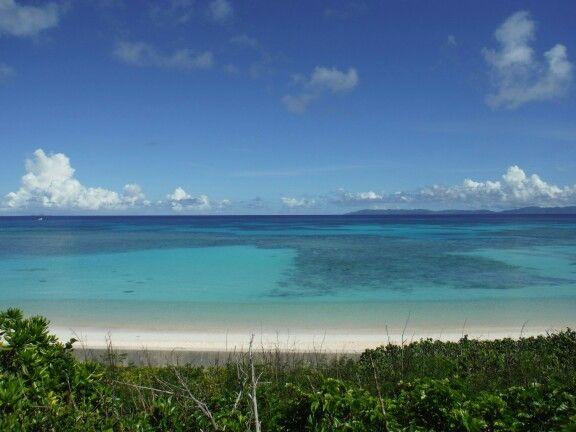 波照間島ニシ浜。波照間ブルーが鮮やかすぎる…