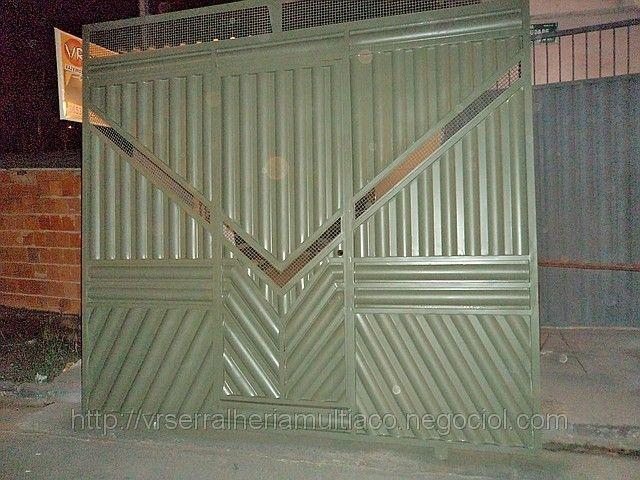 Portão com chapa ondulada, foto 1