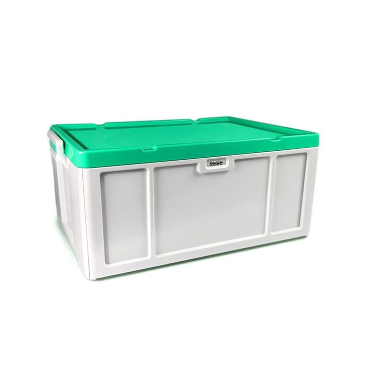 Storage Box, 52 Liter Coded Lock Household Storage Container Stackable ABS  Plastic Multifunctional Storage Bins
