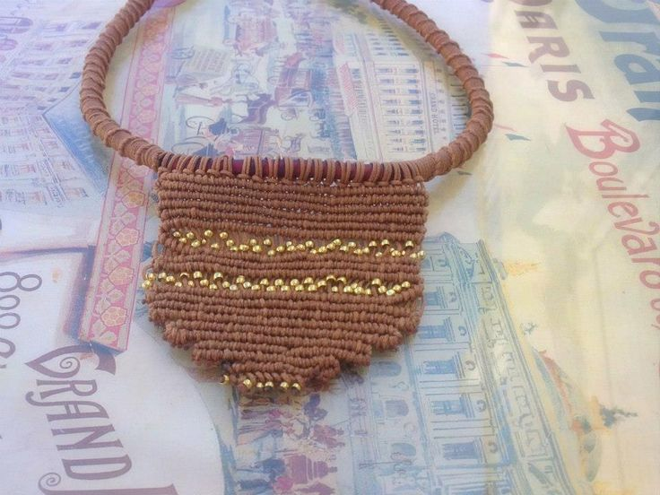 Safari macrame necklace