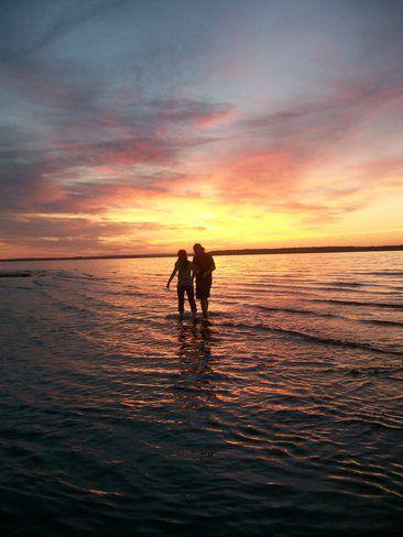 Sunset at Parlee Beach // by Diane Strzechowski, Shediac, NB