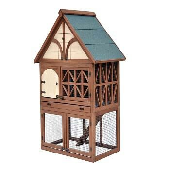 Tudor style rabbit hutch for fancy bunnies i want one for Super pet hutch