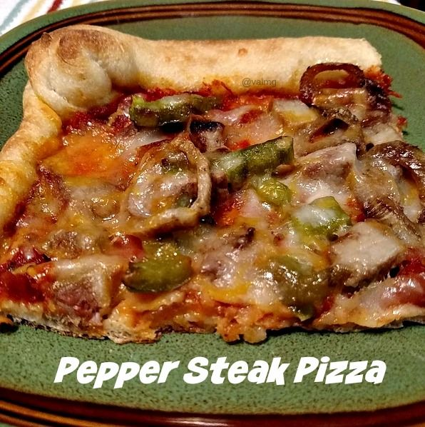 Pepper Steak Pizza #Recipe | From Val's Kitchen | Bloglovin'