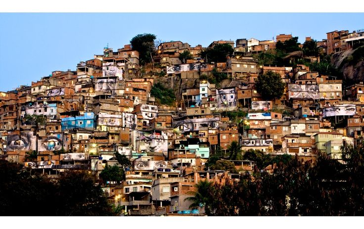 "JR ""Favela"": Slum, Street Artists, Heroes, Rio De Janeiro, Nu'Est Jr, Women, Photo, Streetart"