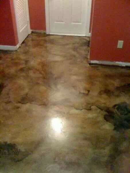 23 best images about stained concrete floors on pinterest for Clean acid stained concrete