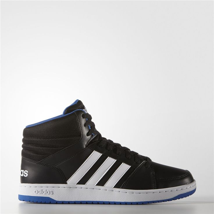 Adidas Hoops VS Mid Shoes (Core Black / Running White Ftw / Blue)