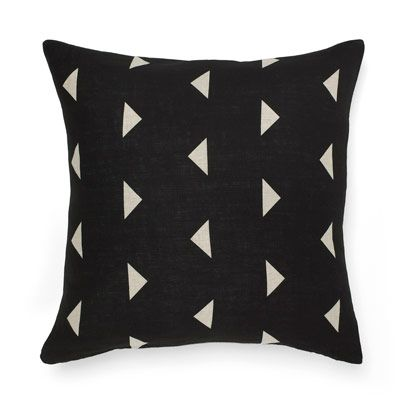 Triangles Cushion in Black 50cm