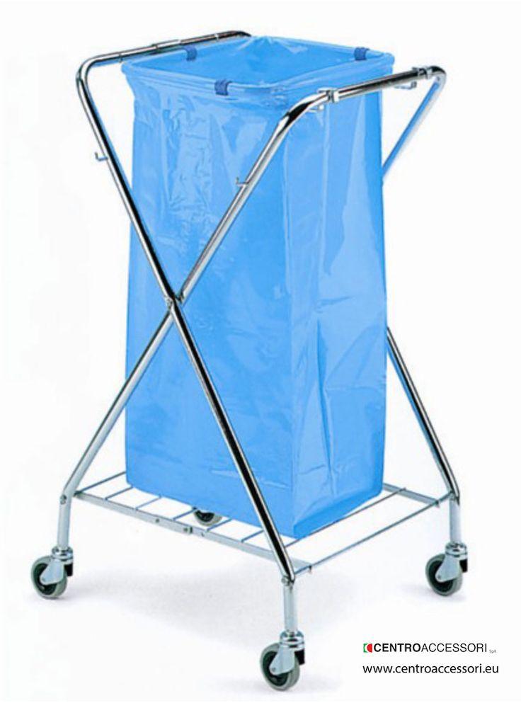 Carrello porta sacchi forbice con ruote. Trolley hold-bags dustbins. #CentroAccessori