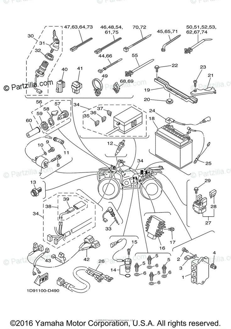 Wiring Schematic For 2006 Yamaha Kodiak 450 In 2020