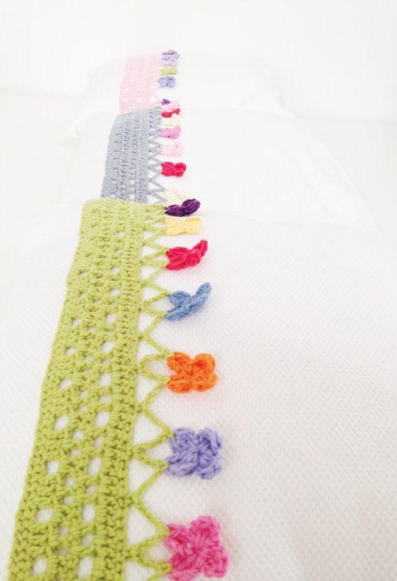 Crochet Pillow Edging Pattern Instant by annemariesbreiblog, €3.00