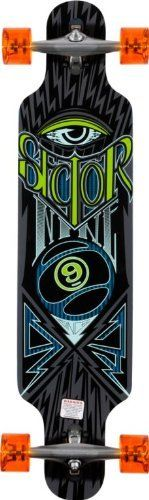 Sector 9 Seeker 39 Longboard Complete by Sector 9. $249.95. The Seeker longboard from Sector Nine is a great freestyle longboard made specifically for kick turns and freestyle moves. Featuring reverse pivot trucks for tighter turns, drop through construction for a lower center of gravity, shorter nose and tail for easier moves, with slight concave for extra spring in and out of turns. The Sector 9 Seeker is just right for a longboarder looking to shred some mellow h...