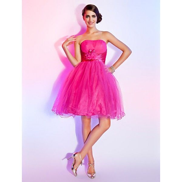 CHIC DRESSES / SWEET 16 DRESS - FUCHSIA PLUS SIZES / PETITE BALL GOWN / A-LINE STRAPLESS SHORT/MINI TULLE-Product Code: 223908 Availability: In Stock- £79.99--Coupon code: 8gbpoff  on any order from: https://www.chicdresses.co.uk/-Coupon code: 8gbpoff  on any order from: https://www.chicdresses.co.uk/