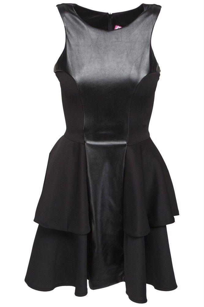 df4e2f21e29f Goddess pu peplum kjole
