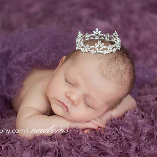 newborn crown prop, Newborn Crown, Photo Prop, baby crown, photography prop, crystal crown, crown, baby shower gift - Malaina by HandcraftedCrowns on Etsy https://www.etsy.com/listing/180081528/newborn-crown-prop-newborn-crown-photo