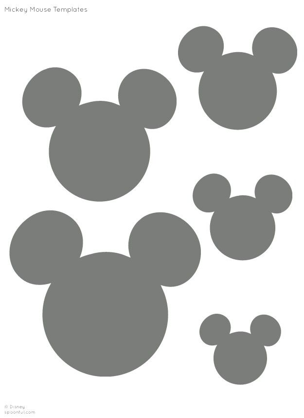 Disney's Minnie and Mickey Mouse Silhouettes/  Templates/ Stencil/ Sjabloon for all sorts of crafts ▶●◀ Provided by Spoonful.com