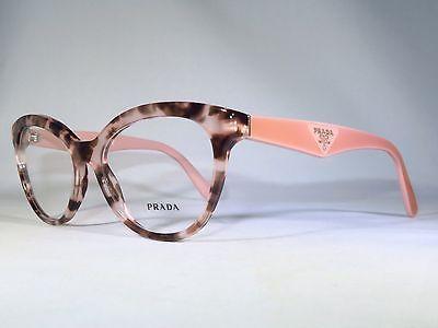 Prada Vpr 11r Roj-1o1 Pink Tortoise New Women Authentic Eyeglasses 52/17/140mm