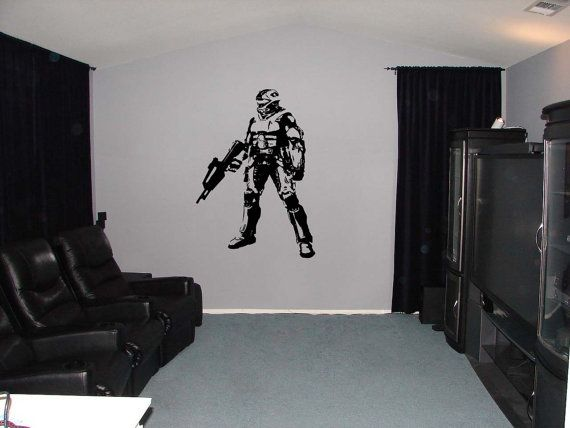 Halo Xbox Video Game Vinyl Wall Sticker 34h By IslandCustomDesigns, $24.99 Part 75