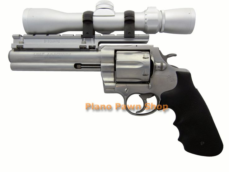 """Plano Pawn Shop  - Colt Anaconda .44 MAG 6"""" Stainless Steel with Scope and Base, $1,999.00 (http://www.planopawnshop.net/colt-anaconda-44-mag-6-stainless-steel-with-scope-and-base/)"""