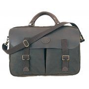 Barbour Mens Wax Leather Briefcase in Olive