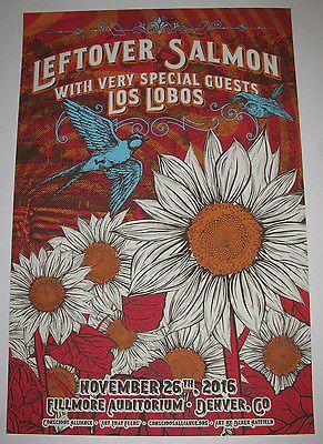 LEFTOVER SALMON 2016 Fillmore - Denver Concert Screen Print 16x24 Gig Poster