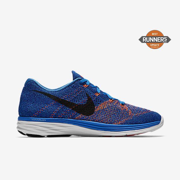 5d7740a688b5f ... Chaussure de running Nike Flyknit Lunar 3 pas cher pour Homme Bleu  photoHarmonie ...